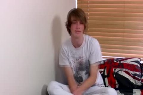 Ginger Emo legal age teenager Kai Alexander Pleasures Himself On A sofa