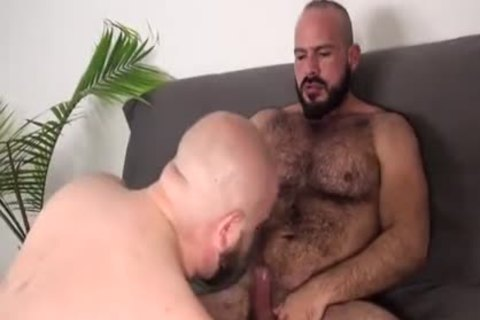 Four muscled gay sex gangbang