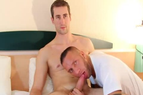 A blameless Straight Delivery lad Serviced His humongous knob By A lad!