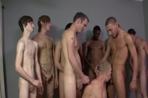 Getting His Boyfriend Shared With plenty of lascivious boyz - Bukkake boyz