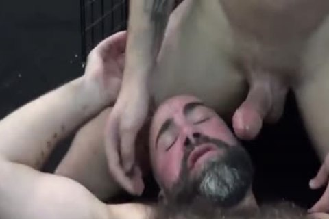 beautiful Daddy bonks Pup In Locker Room