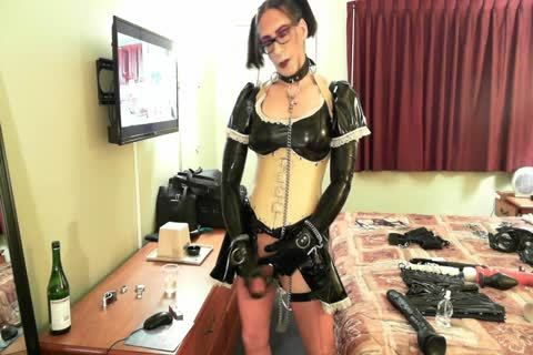 indecent Latex Sissy Maid