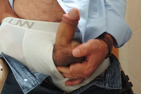 Teasing And stroking A wonderful Tool With Precum In Some White Boxer underwear