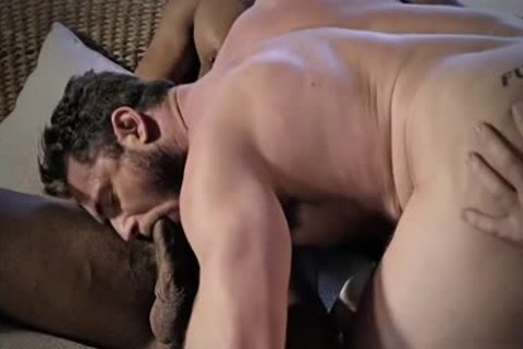 Tattoo gay Cuckold With Creampie