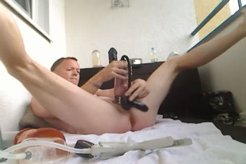 Pumping My shlong And butthole, sex toy nail