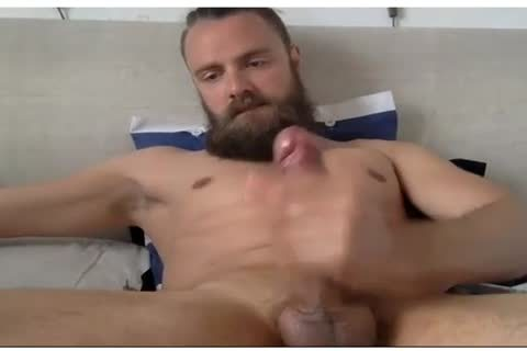 pretty lad With A Beard Beats His meat