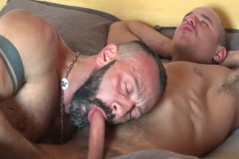 large penis Bear Fisting With ejaculation