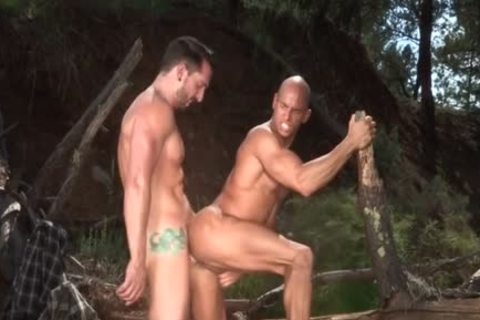 Tattoo Bodybuilder Outdoor Sex And ball cream flow