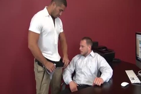 Daddy Hans Berlin gets Bred At His Desk By Trey Turner