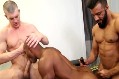 giant wang homosexual threesome With spooge flow