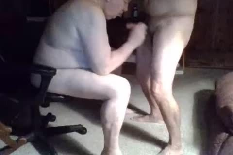 grand-dad engulf On webcam