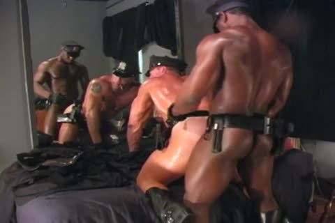 Two pumped up Cops pound Each Other