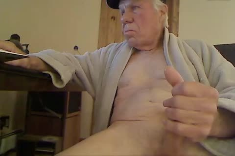 old man wank On web camera