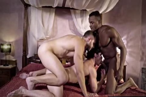 large penis gay threesome And sperm flow