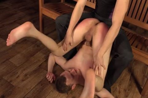 hot gay spanking And sex cream flow