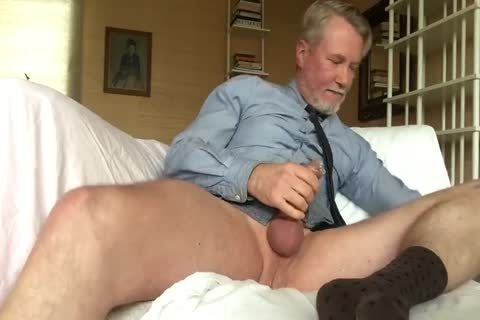 Suited Daddy sex tool Jerkoff