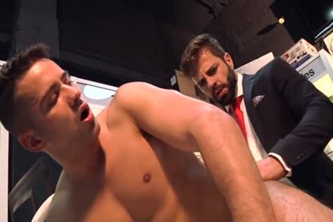 Muscle homosexual butthole stab And cumshot