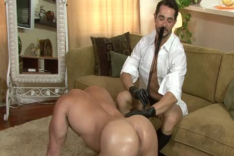 yummy boy On All Fours Used By Other boy In Gloves