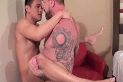 asian Daddy arse stab With ejaculation