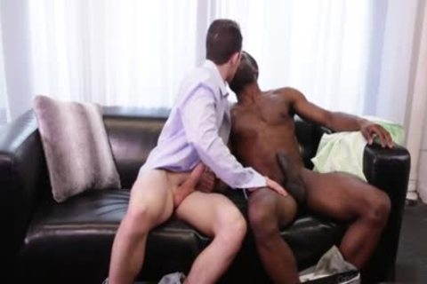 large schlong homosexual Interracial With cumshot