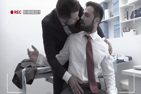 Riding, giving a kiss, muscular, Office, Uniforms