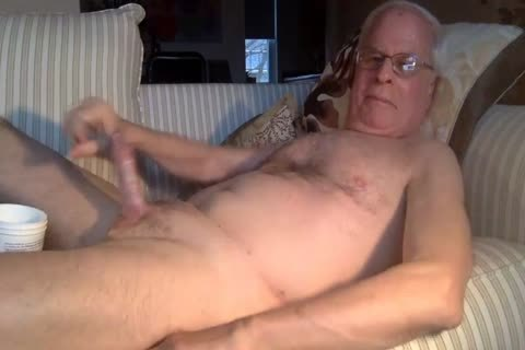 grandad cum On webcam