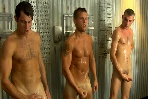 Five boys Are Jerking After Soccer