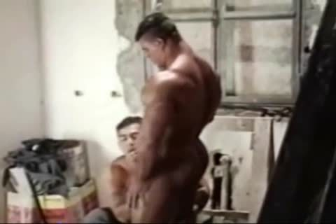 Brasil Bodybuilders large ass slammed By Hunk