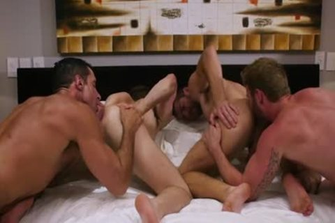 giant penis Son Foursome And sperm flow