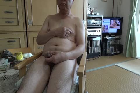 The Elderly cum With nude Masturbation And drink goo