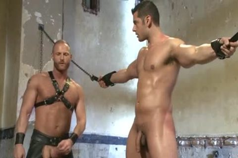 Muscle homo fastened And Facial cum