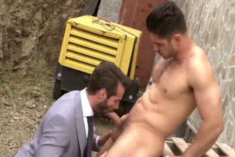 Muscle homosexual bound with ejaculation