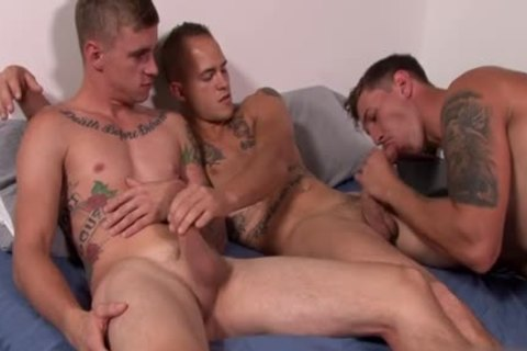 large cock homo threesome And goo flow
