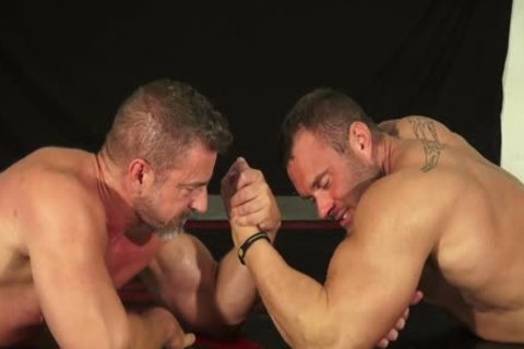 Muscle stud And Dilf Wrestle