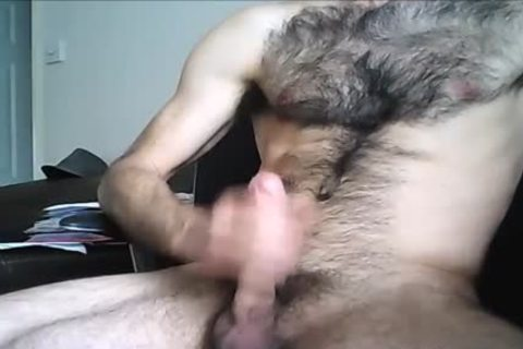 hairy Hung chap shoots A large Load