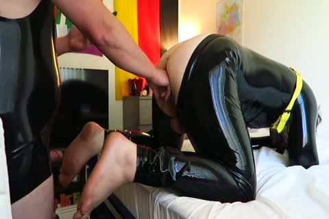 Latex Play Fisting Attempt And pounding
