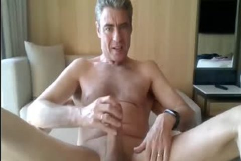 daddy stroking In His Hotel Room