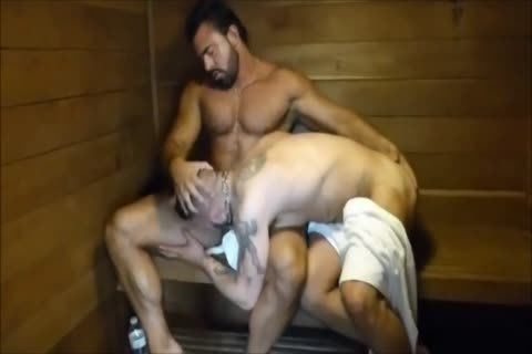 Muscled hunks disrobe kiss flip plow