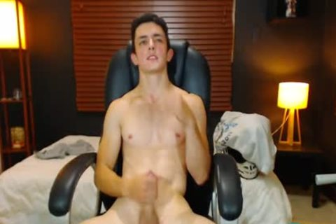 Flirt4Free - Duke J - large Dicked fellow Jerks Off W OhMiBod Wedged In His wazoo