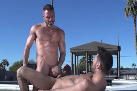 Muscle Bear butt And ejaculation