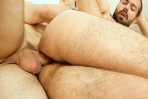 hairy homo ass job With ball cream flow