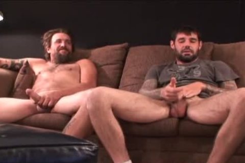 2 coarse hairy Straight Redneck Stroking jointly