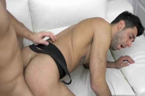 Tattoo gay blow job-stimulation With spunk flow
