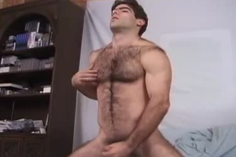 hairy beast And His fake penis