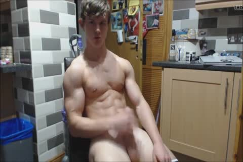 Hung Bodybuilder Nathan Green Flexing Jerking