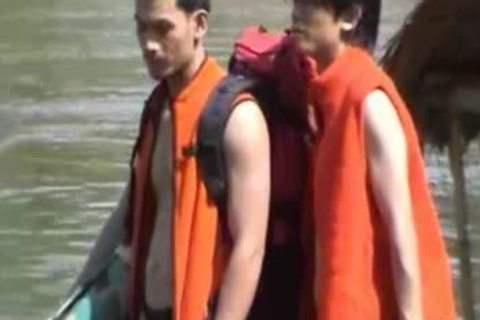 Thai boyz naked On A River