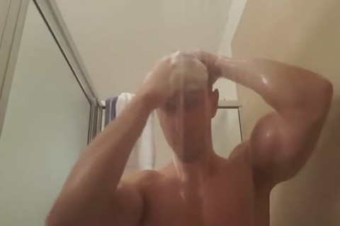 lad Plays With anal In Shower