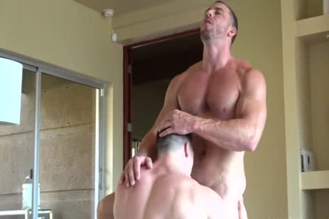 Boyz ass and knob eaten before sex