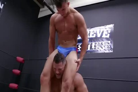 Daddy And Son Wrestling! Daddy Is So pretty In Minimal Speddo, almost A thong