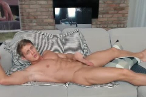 Eluan Jeunet On Flirt4Free - perfect Ripped Model Stroking His enormous knob